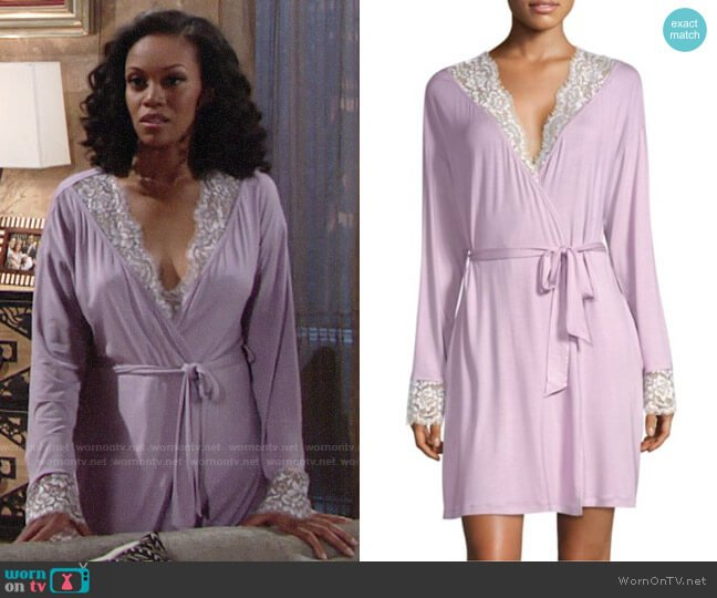 Cosabella Preta Robe worn by Hilary Curtis (Mishael Morgan) on The Young & the Restless