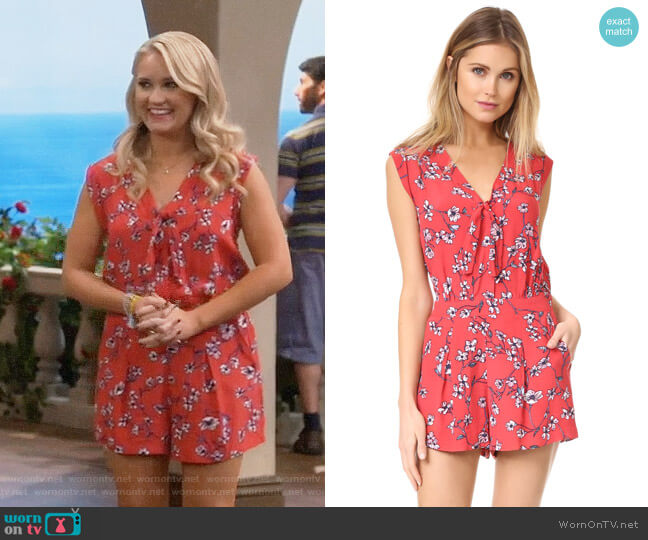 Cupcakes and Cashmere Fitz Cherry Blossoms Romper worn by Gabi Diamond (Emily Osment) on Young & Hungry