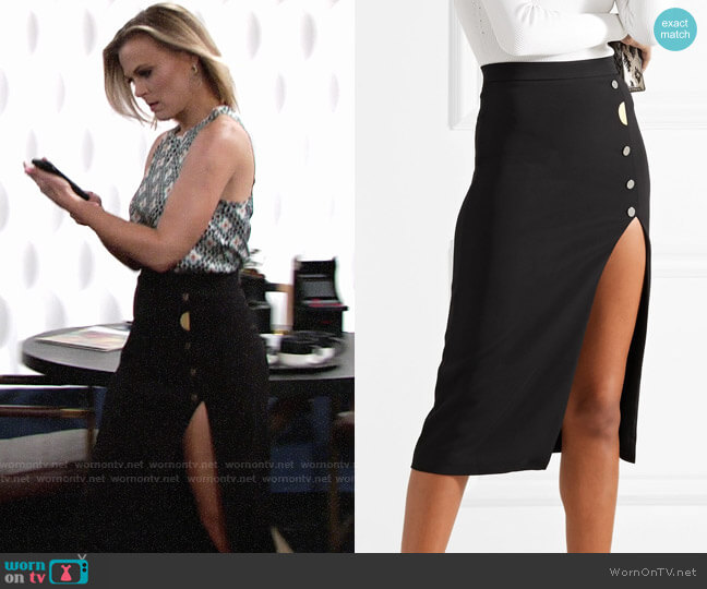 Cushnie et Ochs Dahlia Skirt worn by Phyllis Newman (Gina Tognoni) on The Young & the Restless