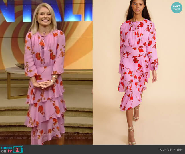 Zuma Asymmetrical Midi Dress by Cynthia Rowley worn by Kelly Ripa  on Live with Kelly & Ryan