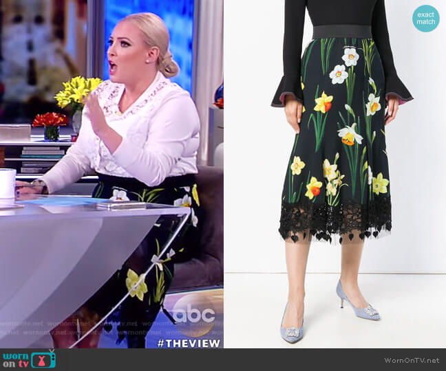 Printed Cady Skirt by Dolce & Gabbana worn by Meghan McCain  on The View