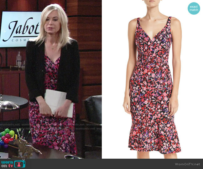 Elie Tahari Yirma Dress worn by Eileen Davidson on The Young & the Restless