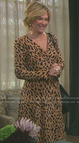 Eve's leopard print wrap dress on Days of our Lives