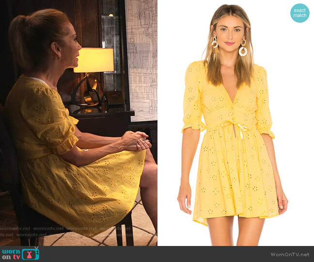 Spring Eyelet Swing Dress by For Love & Lemons worn by Kathie Lee Gifford on Today