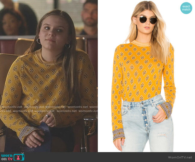New Age Crew Neck Sweater by Free People worn by Maisy Stella on Nashville