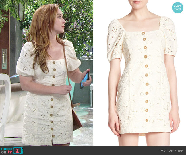 Free People Daniella Dress worn by Camryn Grimes on The Young & the Restless