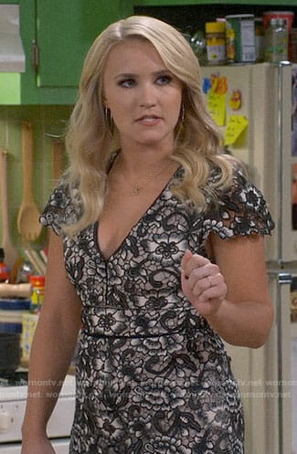 Gabi's lace romper on Young and Hungry