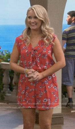 Gabi's red floral romper on Young and Hungry