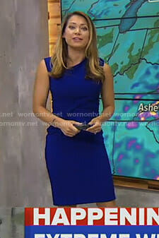 Ginger's blue ruched front dress on Good Morning America