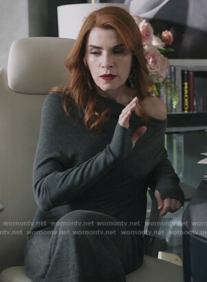 Kitty's gray long sleeve stretched wool dress on Dietland