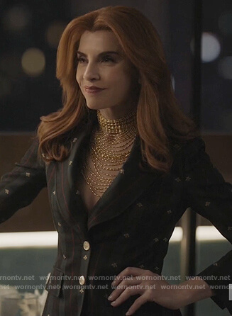 Kitty's green embroidered blazer on Dietland