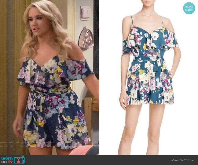 Guess Paige Romper worn by Gabi Diamond (Emily Osment) on Young & Hungry