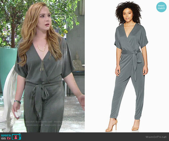 Halston Heritage Kimono Sleeve Jumpsuit worn by Camryn Grimes on The Young & the Restless