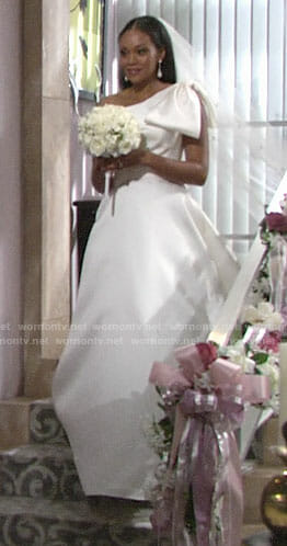 Hilary's dream sequence wedding dress on The Young and the Restless
