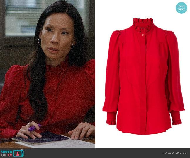Isabel Marant Sloan Victorian Blouse worn by Joan Watson (Lucy Liu) on Elementary