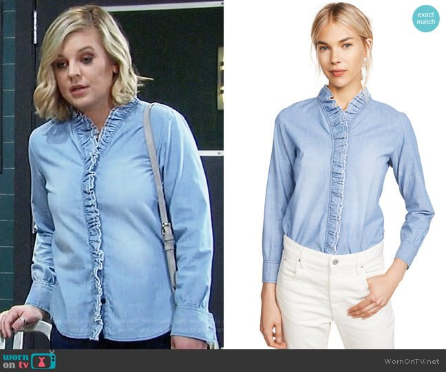 Isabel Marant Etoile Lawendy Shirt worn by Maxie Jones (Kirsten Storms) on General Hospital