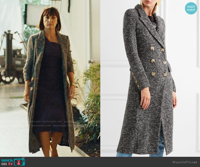 Etoile Isabel Marant Overton Boucle Coat worn by Constance Zimmer on UnReal