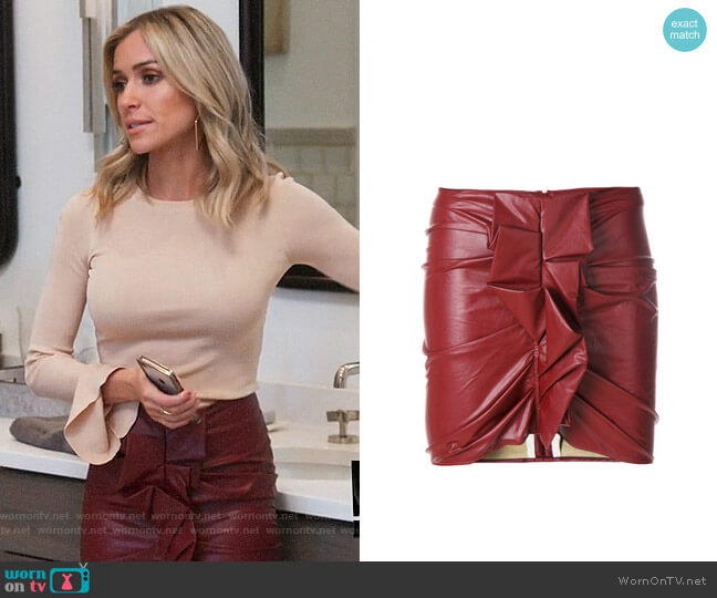 Isabel Marant Etoile Zephira Leather Skirt worn by Kristin Cavallari  on Very Cavallari