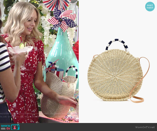 J. Crew Circle Straw Tote worn by Melissa Ordway on The Young & the Restless
