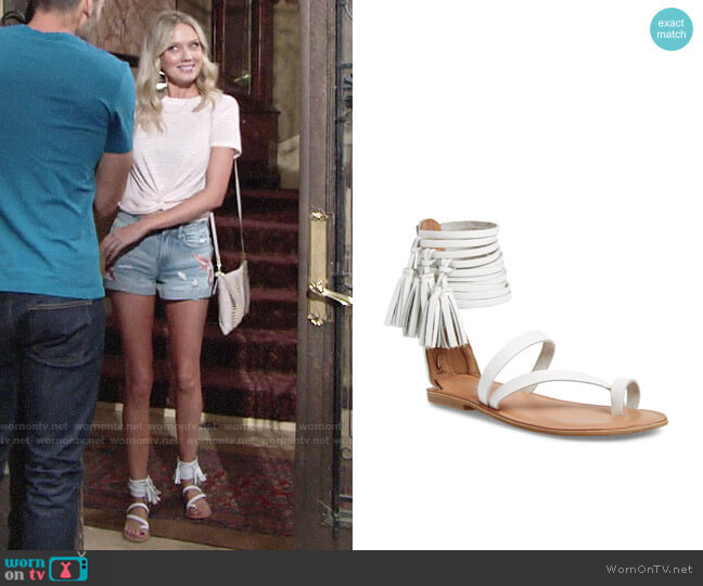 Jeffrey Campbell Glady Sandals worn by Melissa Ordway on The Young & the Restless