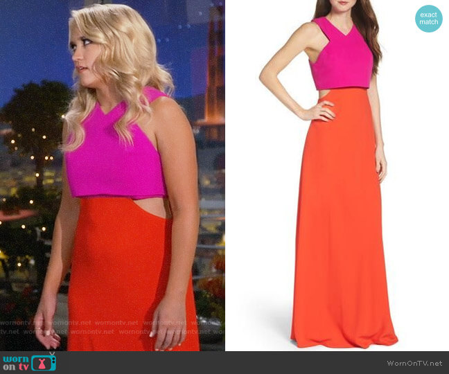 JILL Jill Stuart Popover Crepe Gown worn by Emily Osment on Young & Hungry