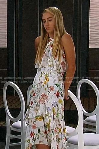 Joss's floral high-low dress on General Hospital