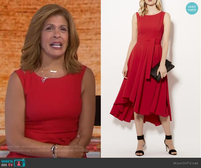 Tie Belt Midi Dress by Karen Millen worn by Hoda Kotb on Today