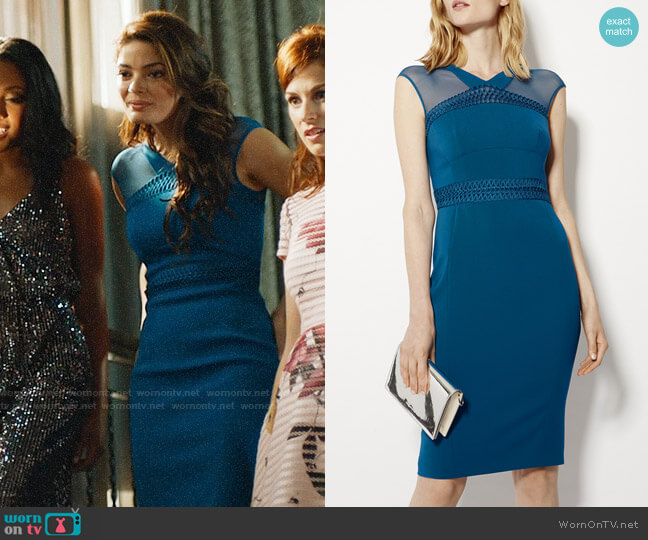 Karen Millen Lace & Mesh Dress worn by Maya (Natasha Wilson) on UnReal