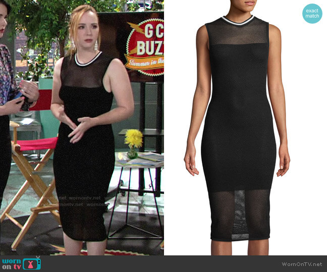 Kendall + Kylie Mesh Sleeveless Body-Con Midi Dress worn by Camryn Grimes on The Young & the Restless