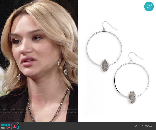 Kendra Scott Elora Earrings worn by Summer Newman (Hunter King) on The Young & the Restless