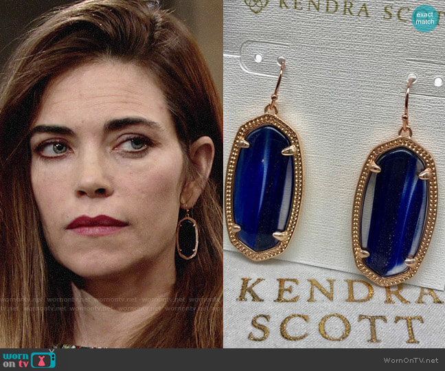 Kendra Scott Elle Earrings worn by Victoria Newman (Amelia Heinle) on The Young & the Restless