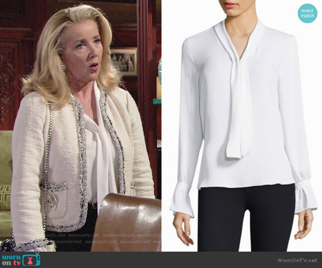 Kobi Halperin Amber Blouse worn by Melody Thomas-Scott on The Young & the Restless