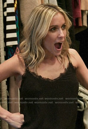 Kristin's black lace trim cami on Very Cavallari