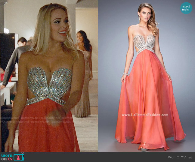 La Femme Style 22179 Gown worn by Candy Coco (Natalie Hall) on UnReal