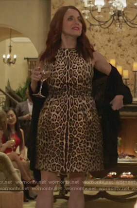 Jo's leopard print sleeveless dress on Girlfriends Guide to Divorce