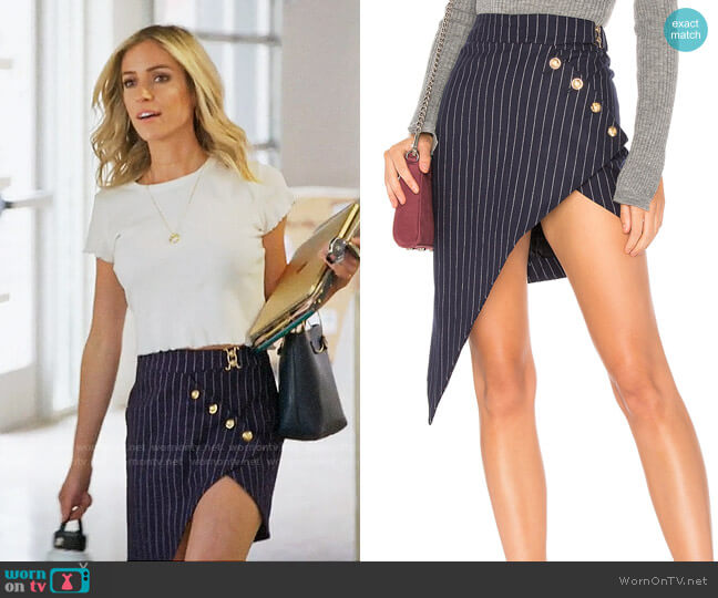 Lioness Heiress Pinstripe Skirt worn by Kristin Cavallari  on Very Cavallari