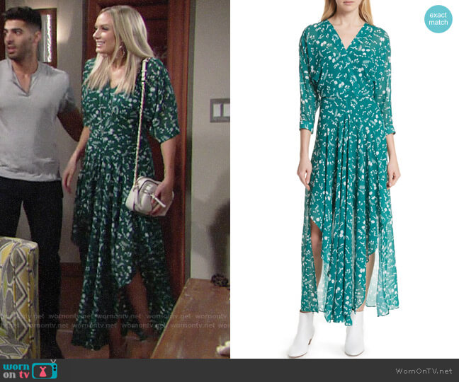 Maje Floral Print Maxi Dress worn by Melissa Ordway on The Young & the Restless