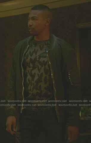 Marcel's grey heart print t-shirt on The Originals