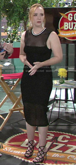Mariah's black mesh midi dress on The Young and the Restless