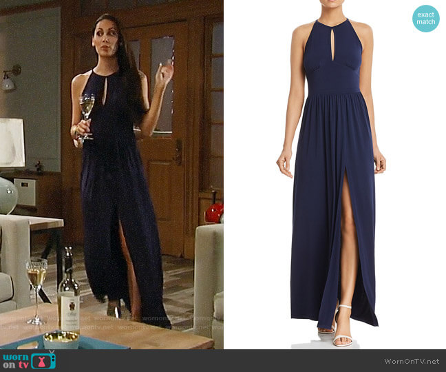 MICHAEL Michael Kors Keyhole Maxi Dress worn by Terri on General Hospital