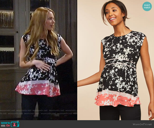 Motherhood Babydoll Maternity Top worn by Nelle Benson (Chloe Lanier) on General Hospital