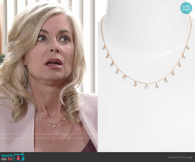 Nadri Shaker Crystal Necklace worn by Ashley Abbott (Eileen Davidson) on The Young & the Restless
