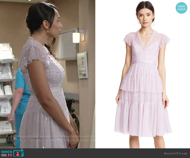 Needle & Thread Mirage Dress worn by Shauna (Camryn Hamm) on The Young & the Restless