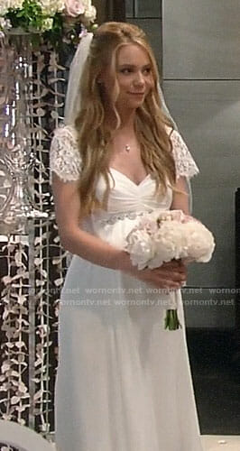 Nelle's wedding dress on General Hospital