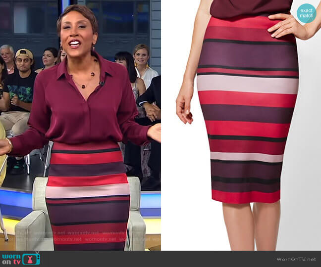Pull On Pencil Skirt - 7th Avenue by New York & Company worn by Robin Roberts  on Good Morning America