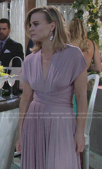 Phyllis's lavender gown on The Young and the Restless