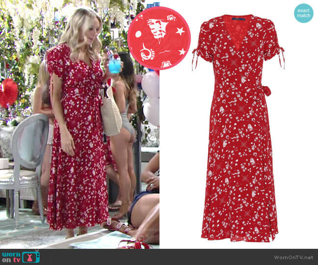 d0de82e2f6b Polo Ralph Lauren Printed Crepe Dress worn by Abby Newman (Melissa Ordway)  on The