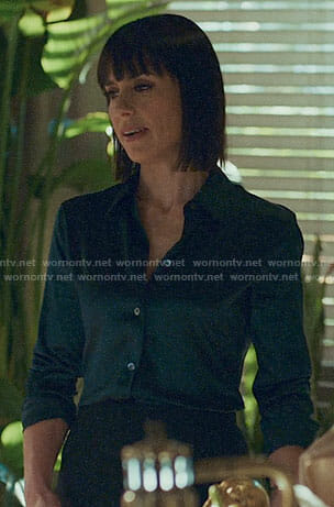 Quinn's satin button up shirt on UnReal