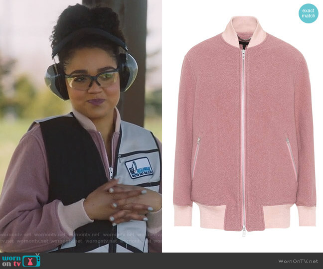 Elle wool bomber jacket by Rag and Bone worn by Kat Edison (Aisha Dee) on The Bold Type