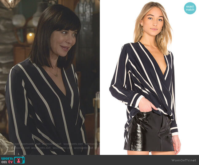 'Victor' Blouse by Rag & Bone worn by Cassandra Nightingale (Catherine Bell) on Good Witch